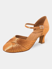 Dance Feel - Womens Pleated Toe Satin Ballroom Dance Shoes