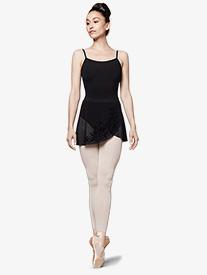 Bloch - Womens Flock Mesh Wrap Pull-On Ballet Skirt