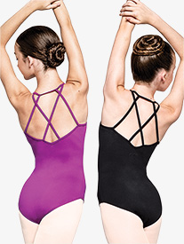 "Russian Pointe - Womens ""Determined"" Crisscross Back Camisole Leotard"