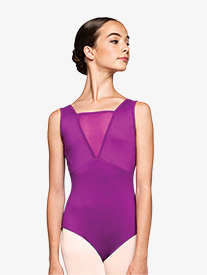 "Russian Pointe - Womens ""Focused"" Mesh Insert Tank Leotard"