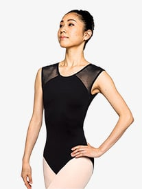 "Russian Pointe - Womens ""Poised"" Mesh Open Back Cap Sleeve Leotard"