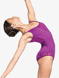 """Russian Pointe - Womens """"Dynamic"""" Mesh Low Back Camisole Leotard"""