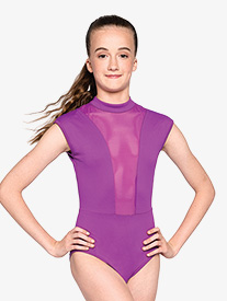 "Russian Pointe - Womens ""Strong"" Back Cutout Short Sleeve Leotard"