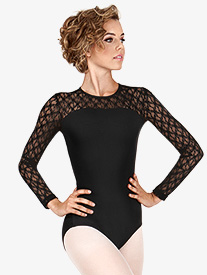 BalTogs - Adult Lace Long Sleeve Leotard