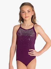 Sylvia P - Girls ''Arella'' Strappy Back Camisole Leotard