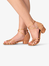 Theatricals - Girls Satin Strappy Ballroom Shoes