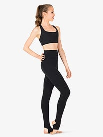 Capezio - Womens High Waist Stirrup Dance Leggings