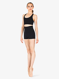 Capezio - Womens Team Basics Foldover Shorts