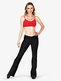 "Capezio - Adult V-Waist 32"" Inseam Boot Cut Jazz Pants"