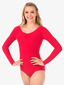 Theatricals - Womens Pinch Front Long Sleeve Leotard