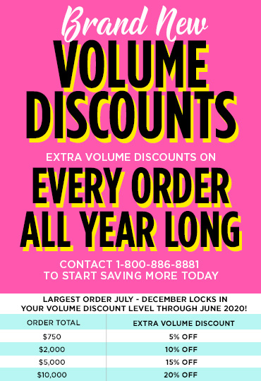 Ad for volume discounts.