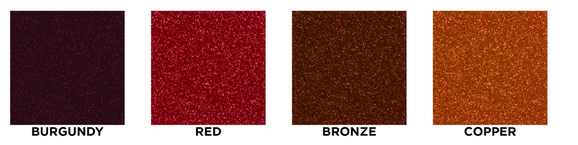 Burgundy, red, bronze, copper swatch images