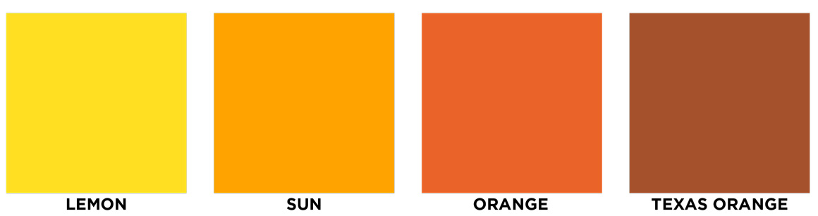 Lemon, sun, orange, texas orange
